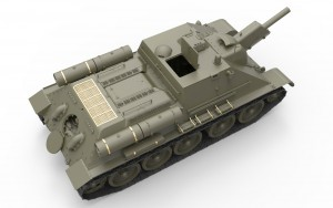 3D renders 35175 SU-122 INITIAL PRODUCTION.  INTERIOR KIT