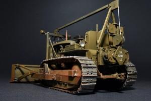 Photos 35184 U.S. ARMEE TRAKTOR mit ABGEWINKELTEM PLANIERSCHILD