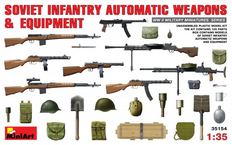 35154 SOVIET INFANTRY AUTOMATIC WEAPONS & EQUIPMENT