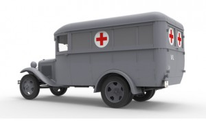 3D renders 35160 GAZ-03-30 AMBULANCE