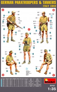 Content box 35163 GERMAN PARATROOPERS & TANKERS (Italy 1943)