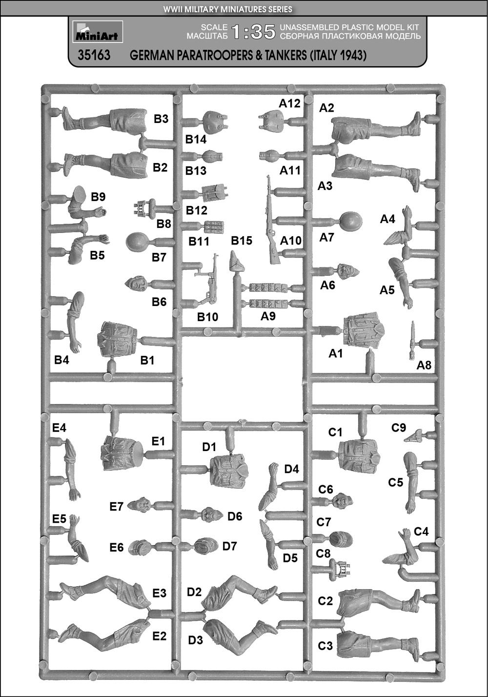 35163 DEUTSCHE FALLSCHIRMJÄGER & TANKERN (Italy 1943)
