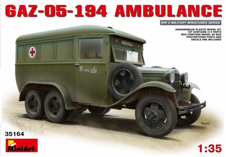 35164 GAZ-05-194 AMBULANCE