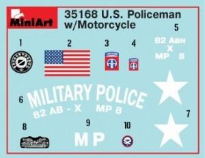 Content box 35168 U.S. MILITARY POLICEMAN w/MOTORCYCLE