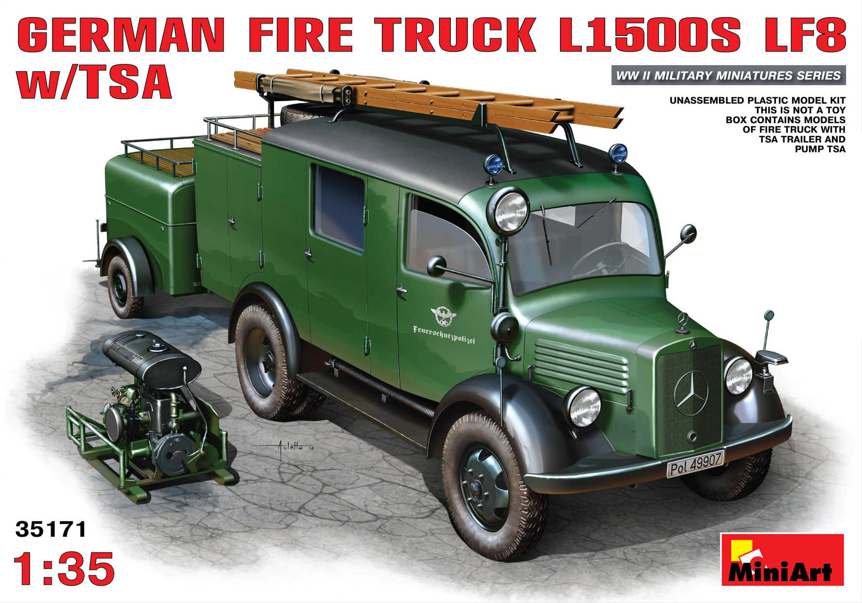 GERMAN FIRE TRUCK L1500S LF8 w/TSA