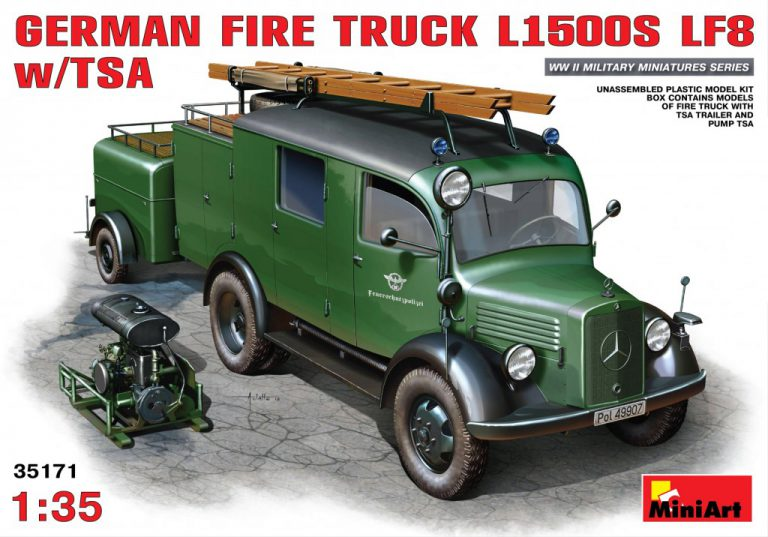 35171 GERMAN FIRE TRUCK L1500S LF8 w/TSA