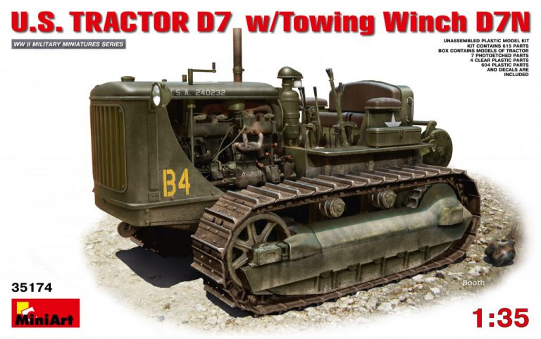 35174 U.S. TRACTOR D7 w/Towing Winch D7N
