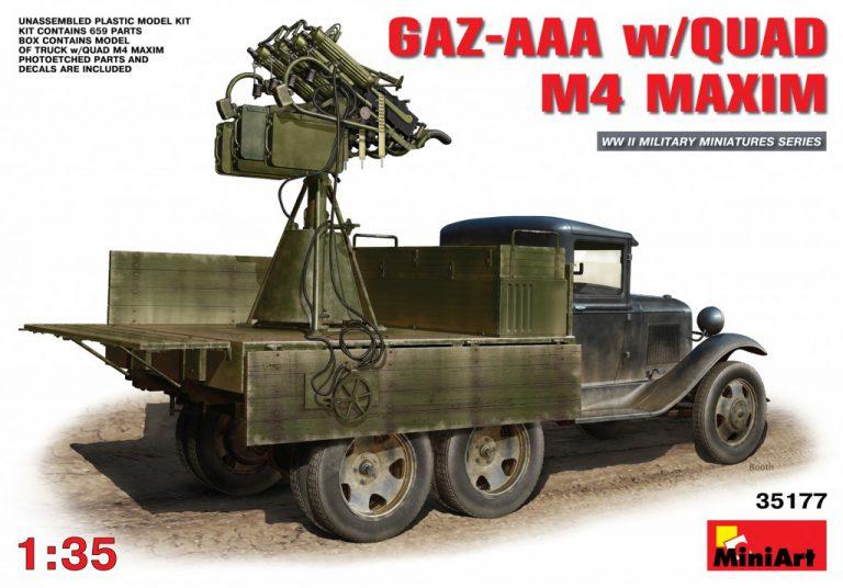 35177 GAZ-AAA运输卡车 带奎德 M-4马克沁机枪
