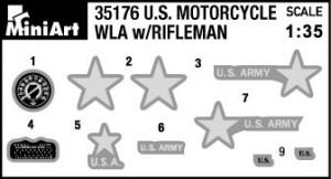 Content box 35179 U.S. MOTORCYCLE WLA w/RIFLEMAN