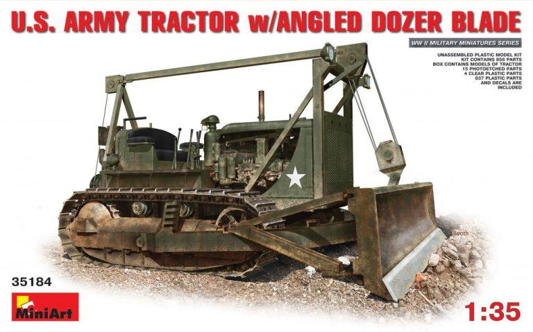 35184 U.S. ARMY TRACTOR w/ANGLED DOZER BLADE