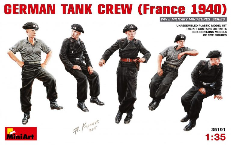 35191ドイツ戦車兵(フランス1940)フィギュア5体入