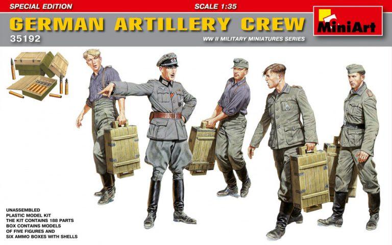35192 GERMAN ARTILLERY CREW. SPECIAL EDITION
