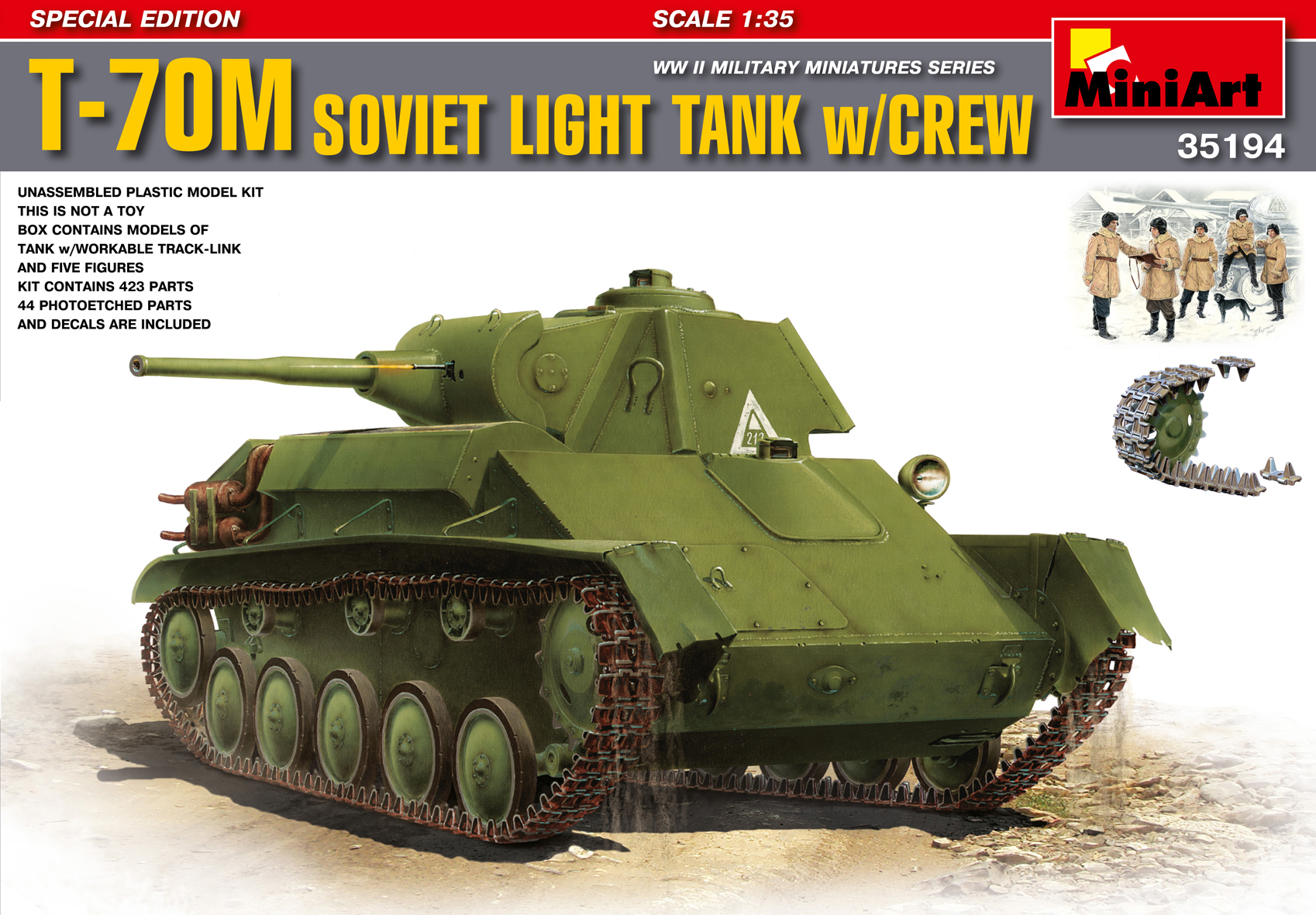 T-70M SOVIET LIGHT TANK w/CREW. SPECIAL EDITION