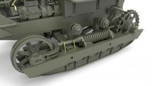 3D renders 35195 U.S. ARMY BULLDOZER