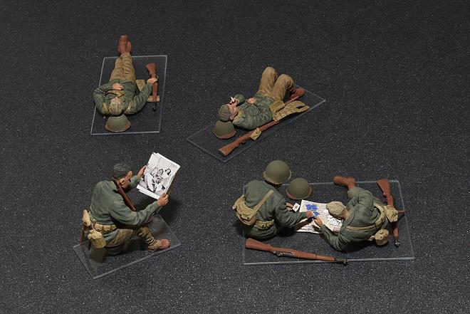 35200 アメリカ軍歩兵(休息中)5体入