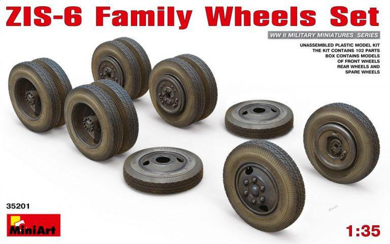 35201 ZIS-6 Familie Räder Set