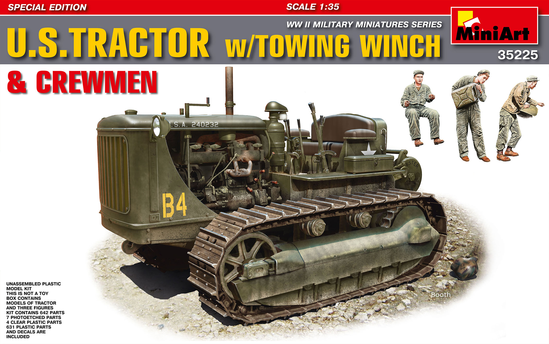 35225 U.S. TRACTOR w/Towing Winch & Crewmen