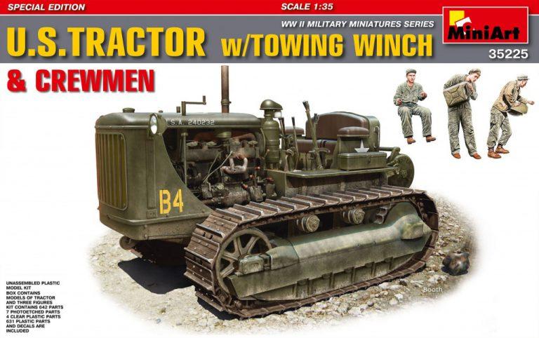 35225 美国拖拉机 带拖缆绞车&乘员 特别版