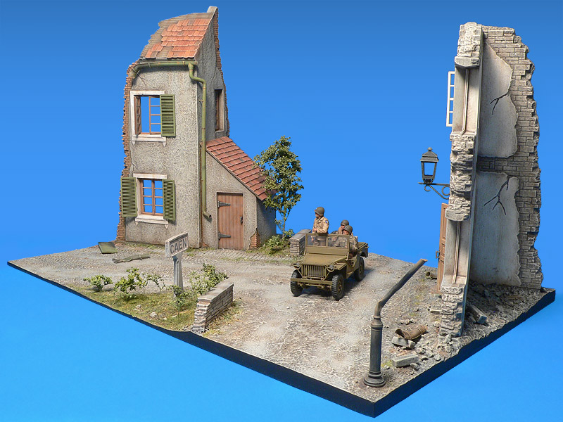 36019 NORMANDY CROSS-ROADS DIORAMA