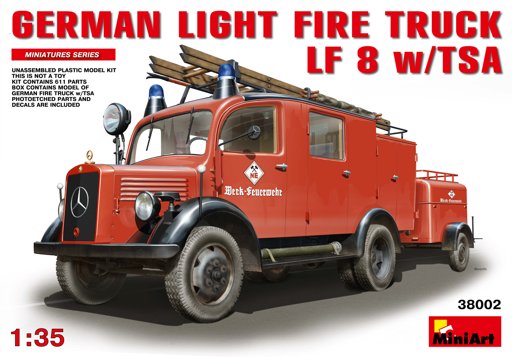 38002 GERMAN LIGHT FIRE TRUCK LF8 w/TSA
