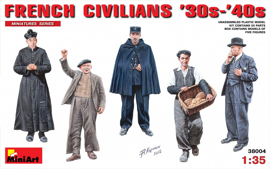 MINIART #38037 French Civilians 30-40s Figuren in 1:35