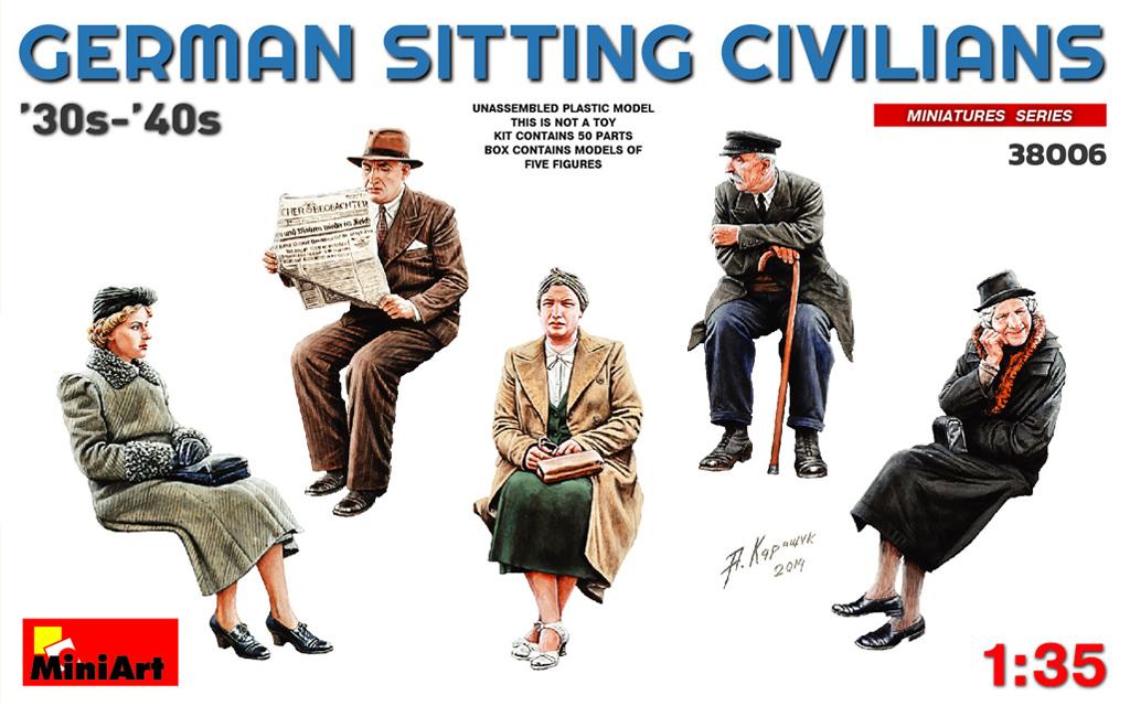 GERMAN SITTING CIVILIANS '30s-'40s