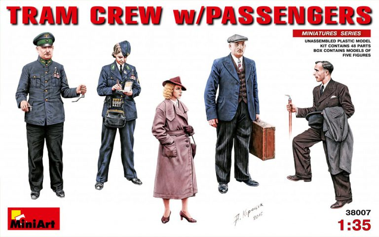 38007 TRAM CREW w/PASSENGERS