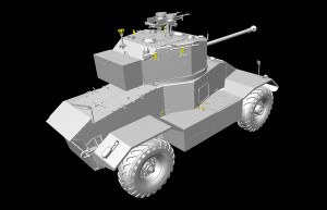 3D renders 35159 AEC Mk.III ARMOURED CAR