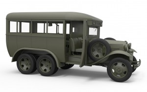 3D renders 35156 GAZ-05-193 STAFF BUS