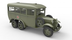 3D renders 35164 GAZ-05-194 AMBULANCE