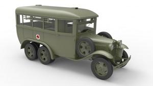 3D renders 35164 GAZ-05-194救急車