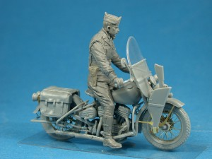 Photos 35168 U.S. MILITARY POLICEMAN w/MOTORCYCLE