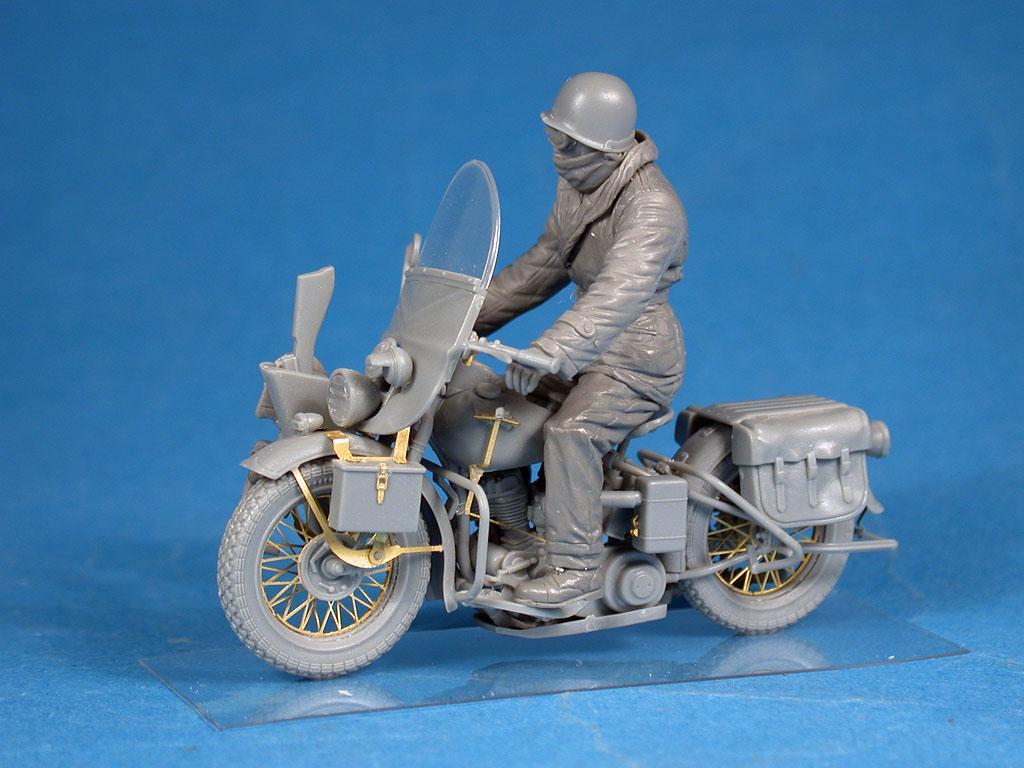 35172 二战美军摩托和骑士