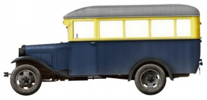 Side views 38005 PASSENGER BUS GAZ-03-30