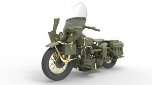3D renders 35168  二战美军警察&摩托