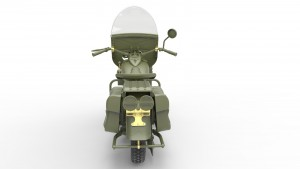 3D renders 35168 U.S. MILITARY POLICEMAN w/MOTORCYCLE