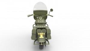 3D renders 35168アメリカ陸軍憲兵(バイク付)