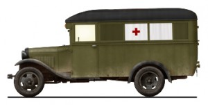 Side views 35160 GAZ-03-30 AMBULANCE