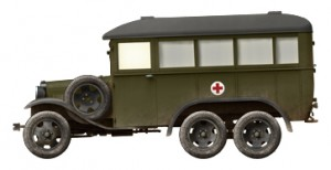 Side views 35164 GAZ-05-194 AMBULANCE
