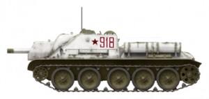 Side views 35175 SU-122 anfängliche Produktion, Bausatz mit Innenausstattung