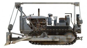 Side views 35184 U.S. ARMY TRACTOR w/ANGLED DOZER BLADE