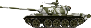 Side views 37011 T-54B SOVIET MEDIUM TANK. EARLY PRODUCTION. INTERIOR KIT