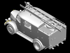 3D renders 35171 GERMAN FIRE TRUCK L1500S LF8 w/TSA