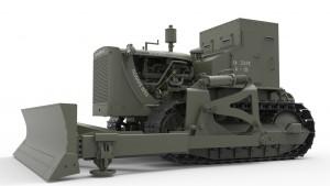 3D renders 35188 U.S. ARMOURED BULLDOZER