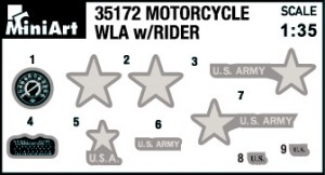 Content box 35172 U.S. MOTORCYCLE WLA w/RIDER