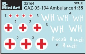 Content box 35164 GAZ-05-194救急車