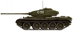 Side views 35193 T-44ソビエト中戦車