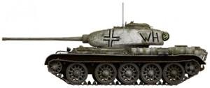 Side views 35193 苏联T-44 中型坦克