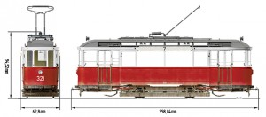 Side views 38001 EUROPEAN TRAM