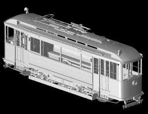 3D renders 38001 EUROPEAN TRAM